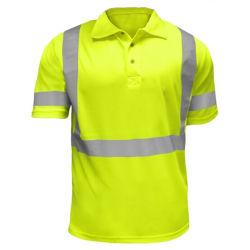 69e632aa Custom Wholesale Breathable Short Sleeve Hi Vis Work Polo Shirt with  Reflective Tape