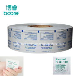 Pharmaceutical Aluminum Foil Paper Roll for Wet Wipes, Alchol Prep Pad Bag Packaging Paper Roll