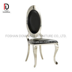 New Design Modern Royal Luxury Gold Golden Hotel Banquet Restaurant Dining Furniture Stainless Steel Wedding Chair