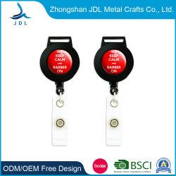 Custom Design Metal Stainless Steel Sublimation Printed Cartoon Logo DIY Retractable Yoyo ID Badge Holder Reel Pull Reelwith Lighter Leash (48)
