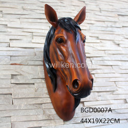 Poly Resin Horse Head with Base Modern Home Decor