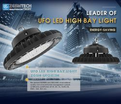 100W to 200W IP65 UFO LED High Bay Light for Gas Station with Motion Sensor