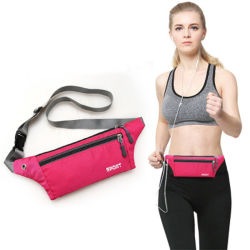 Nylon Waist Bag, Customized Wholesales Waterproof Portable Gym Travel Fanny Pack Money Holder Pocket Phone Bag Belt Purse Outdoor Sport Running Money Bag