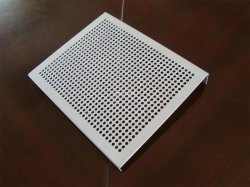 Tec-Sieve Round Hole Perforated Metal Sheet with Bent Edges