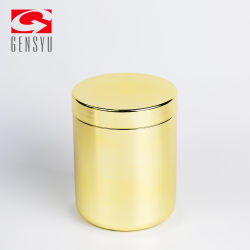 Hot Sale Sports Nutrition HDPE Cylinder Protein Powder Package with Golden Chromed