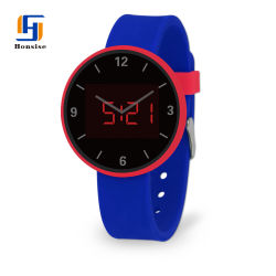 Wholesale High Quality Round Shape Sports LED Watch for Promotional