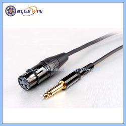 trs 6 35mm mono stereo plug to xlr female male connecting mic cable 1/4