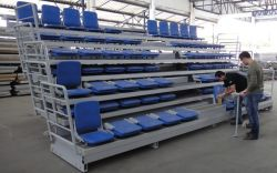 Telescopic Tribune Seating, Retractable Bleacher Seats System for Sale