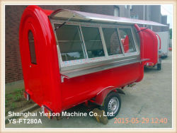 Ys-FT280A Food Truck Mobile Food Car for Sale with Glass Sliding Window