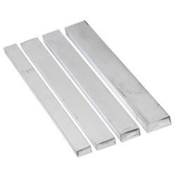 Clear anodized aluminum flat bar