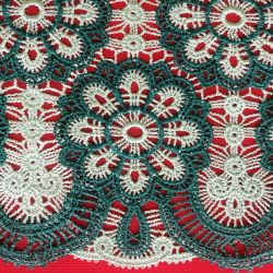 100%Polyester Yarn Dyed Chemical Embroidery Lace for Girl's Clothing