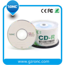 Professional Silver Thermal Glossy Blank CD - 100 Pack