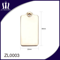 High Quality Gold Color Metal Tag for Bag