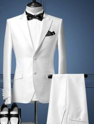 Wedding Dress The Groom Suit Suit White Male Suits