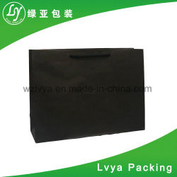 Kraft Print Paper Shopping Carrier Gift Hand Promotional Coated Art Paper Bag for Book Bookshop Cosmetic Jewelry Souvenir Cufflink Hair Accessory