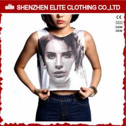 fcb4c04634d85 Hot Sale Yoga Ladies Customized Screen Print Sleeveless Crop Top  (ELTWBJ-306)