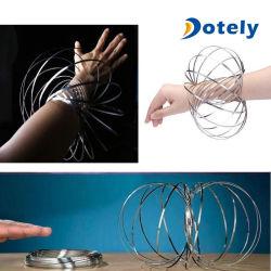 Flow 3D Metal Rings Arm Slinky Dynamic Science Magic Fidget Flow Toy
