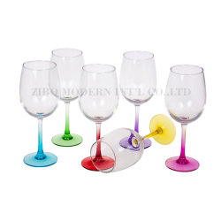 Wholesale Crystal Spraying Color Coloured Wine Glass