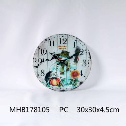 Wholesales Popular Home Decor Round Glass Wall Clock