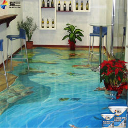 High Transparency 3D Epoxy Resin Art Floor Paintings