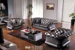 MID-Century Modern Microfiber Leather Tufted Chesterfield Loveseat Sofa