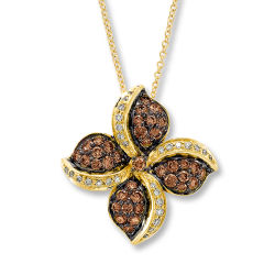 14k Yellow Gold 925 Silver Pendants Jewelry Micro Setting