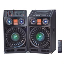 PA Stage DJ Active Louder Speaker with Crystal Ball Light