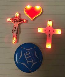 Promotion Gifts Advertising LED Light-up Badge, LED Brooch Lights