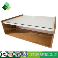 Solid Wood White Coffee Table Low Table for Living Room