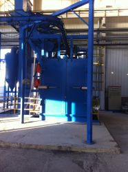 Cylinder Surface Cleaning Shot Blasting Machine