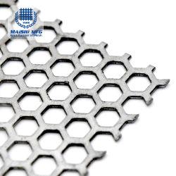 Hexagonal Hole Galvanized Punched Metal Mesh Panel / Sheet