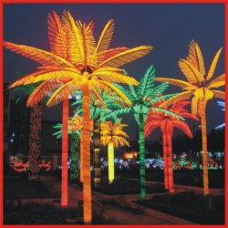 Outdoor 3m 5m 8m Artificial Led Palm Tree Light