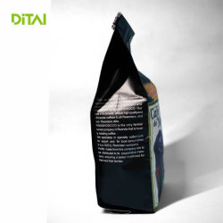 Paper Bag for Coffee Packaging with Flat Bottom with Valve