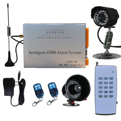 Professional GSM/CDMA Security Alarm System with Camera with SMS, MMS, E-Mail Calls Automatically
