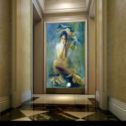 Factory Direct High Quality Handmade Modern Canvas Art Impressionistic Nude Woman Body Oil Painting