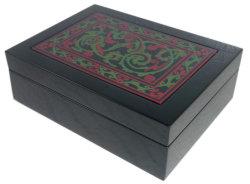 Lacquer Ware Black Color of Tea and Coffee Box, Hotel Lacquer Ware Coffee Box