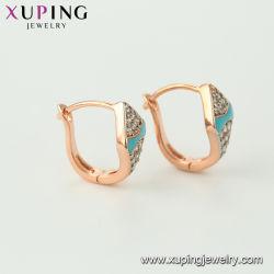 Xuping Environmental Copper 2 Gram Gold Beautiful Designed Earrings for Women