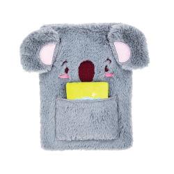 Plush Hardcover Notebook Koala Shape Design for Kids