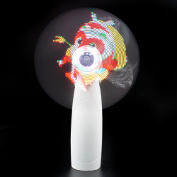 2020 Wholesale Product LED Animation Fan Can Program Patterns and Rechargeable Colorful LED Fan