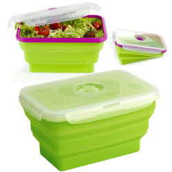 Food Grade Silicone Collapsible Bowl, Heat Resistant Food Container, Food Storage