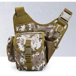 Outdoor Shoulder Bag Fishing Army Camouflage Backpack Slingshot Bag