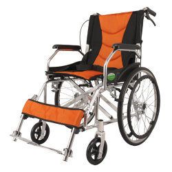 Factory Direct Price Comfortable Elderly Aluminum Manual Wheelchair for Disability