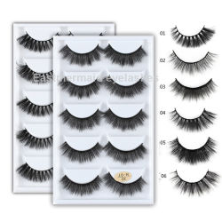 New Handmade Artificial Korean Silk Protein Eyelashes Winged Cross Natural Long Ey Lashes Studio for Makeup