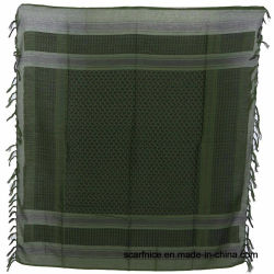 Army Desert Tactical Shemagh Scarf in Natural Cotton with Tassels