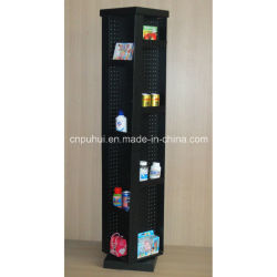 Rotating Floor Double Sides Metal Pegboard Display Rack (PHY282)