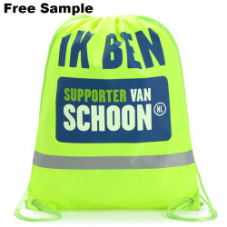 Advertising Promotional Polyester Nylon Sports Gym Drawstring Backpack Drawstring Bag