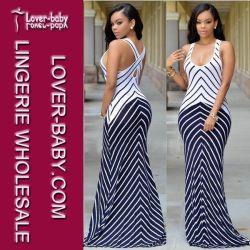b7d52e041a Stripes Maxi Dress Casual Fashion Wear for Lady (L51275)