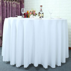 Factory Direct Sale Polyester Satin Fabric Plain Solid Table Cover
