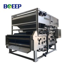 Lab Scale Filter Press Operation Sewage Water Treatment System