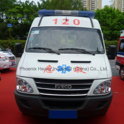 High Roof Iveco Chassis Ambulance Car with Diesel Engine